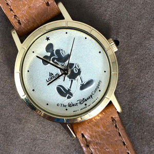Walt Disney Mickey Mouse WatchGold Tone by Lorus